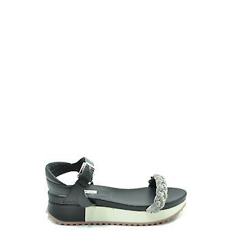 Ninalilou Ezbc115017 Women's Black Leather Sandals
