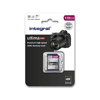 Integral 128gb sd card 4k video premium high speed sd memory card up to 100mb/s v30 uhs-i u3 c10 128