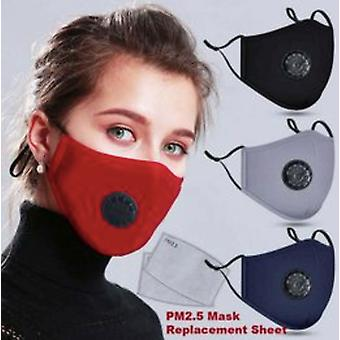 Cotton Washable And Reusable Anti-dust Anti Virus Flu Face Mask Activated Carbon Filter Respirator Protective Mask