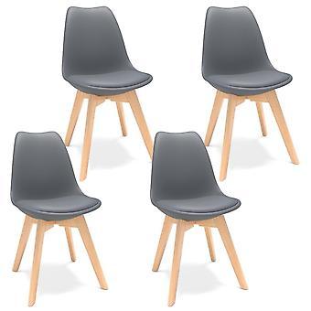 Skandinavisk design spisestuestol, kaffestole med massivt træ stole