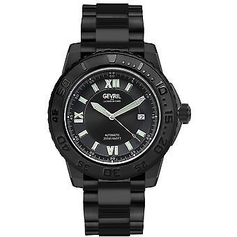 Gevril Men's Seacloud Black Dial Black PVD Watch