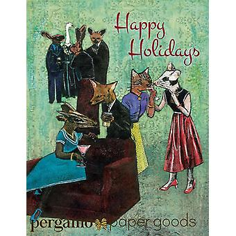 Happy Holidays Animal Party Card Or Card Set