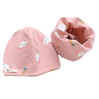 Cotton Plush Hat Scarf Set, Cartoon Sheep Owl Stars Baby