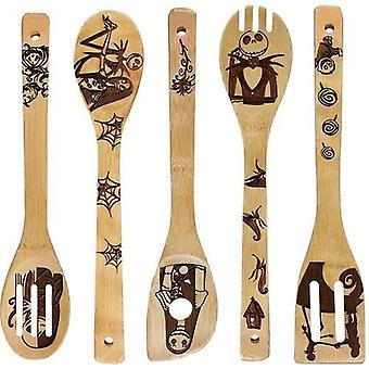 Non-stick Spatel Schop houten gebruiksvoorwerpen Set Kookgerei Kookgereedschap