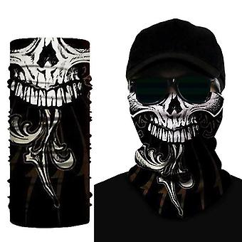 Biker Skull Motorcycle Neck Tube Face Mask Scarf Universal Fit Anti Bactérien