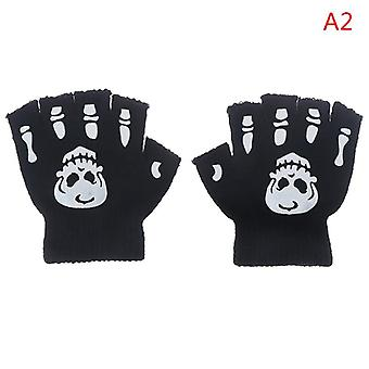 Cool Fluorescent Skeleton Mittens Skull Fashion Cool Winter Gloves