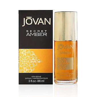 Jovan secret amber por coty para mujeres 3.0 oz spray de colonia