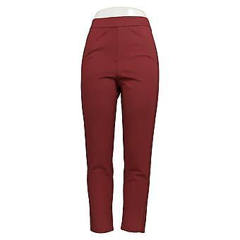 Joan Rivers Women's Pants Signature Ankle Grosgrain Trim Brick Red A366910