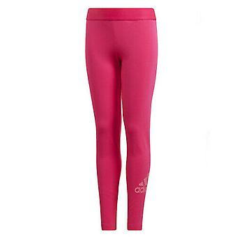 Adidas Girls Must Have Badge Of Sports Leggings Casual Running Tight Pink DV0331
