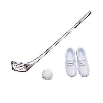 Dukker House Golf Club Ball & Sko Miniature 1:12 Skala Spil Sæt Tilbehør
