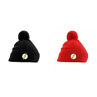 Flash Unisex Adults Logo Pom Beanie