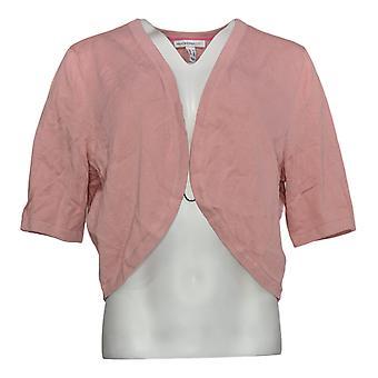 Isaac Mizrahi Live! Frauen's Pullover abgeschnitten Cardigan rosa A353201