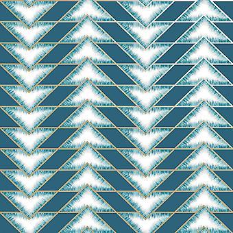 Teton Teal Wallpaper