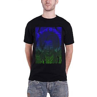 Jimi Hendrix T Shirt Swirly Text Band Logo Hippie Official Mens Black