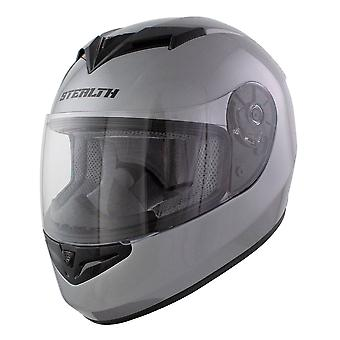 Stealth Full Face Helmet V121 Gloss Silver