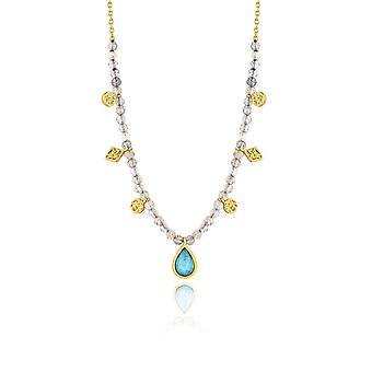 Ania Haie Silver Shiny Gold Plated Turquoise Labradorite Necklace N014-03G