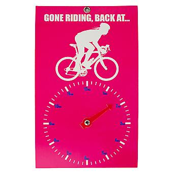Gone Riding Clock Face - Lady Roadie