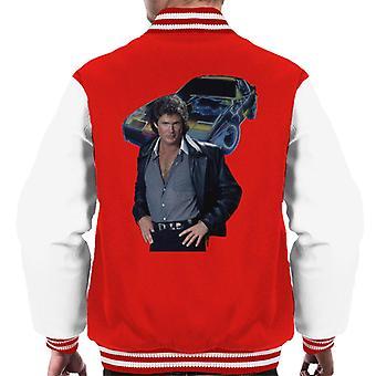 Knight Rider Michael Knight And KITT Men's Varsity Jacket