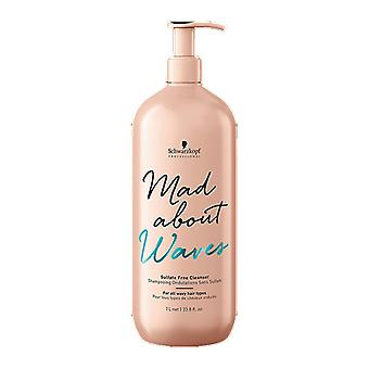 Schwarzkopf Mad About Waves Sulfate Free Cleanser 1000ml