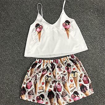 الكرتون طباعة ملابس النوم دعوى، الصيف الخامس الرقبة بيجاما مجموعة