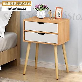 Nordic Bedside Table Solid Wood Small Cabinet Simple Storage Cabinet Economy