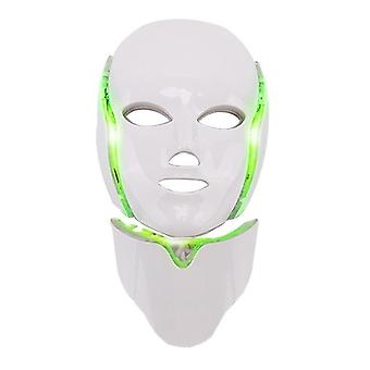 7 Colors led facial mask led household spectrometer face mask machine light therapy acne mask neck beauty led mask
