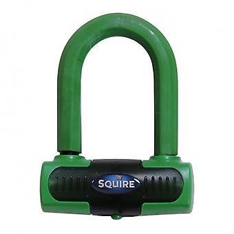 Squire Eiger Sold Secure Gold Mini Disc Lock - Green