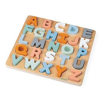 Puzzle doux d'alphabet de cocon de Janod