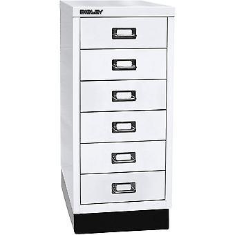 BISLEY MultiDrawer, 29er Serie mit Sockel, DIN A4, 6 Schubladen, Metall, 696 Verkehrswei, 38 x 27.9