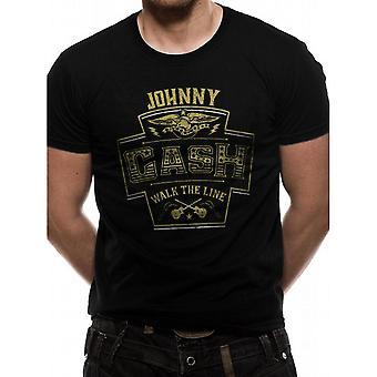 Johnny Cash Unisex Adults Walk The Line Design T-shirt
