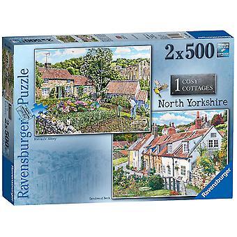 Ravensburger Puzzle Cosy Cottages No.1 - North Yorkshire 2x 500 pezzi