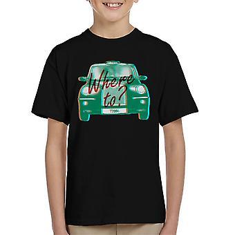 London Taxi Company TX4 Var man kan kid's T-Shirt