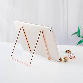 kreativ geometrisk lagring rack og smi jern arrangør bok stativholder