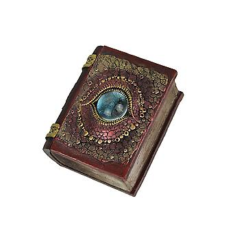 Hand Painted Eye of the Dragon Book-Shaped Trinket Box