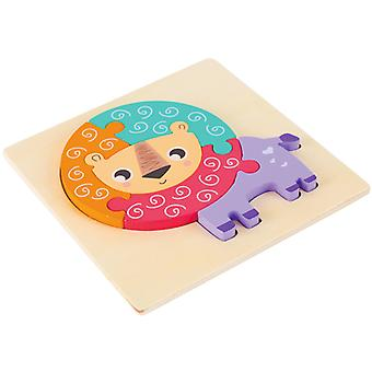 3D الألغاز الخشبية لعب الأطفال التعليم المبكر الفكري بانوراما هدية pts140