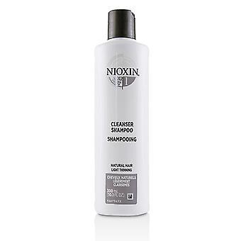 Limpiador de sistema 1 purificación de Nioxin Derma champú (Natural adelgazamiento del cabello, claro) 300ml/10,1 oz