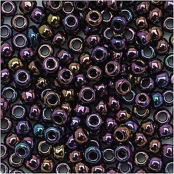 Toho Round Seed Beads 8/0 85 'Metallic Iris Purple' 8 Gram Tube