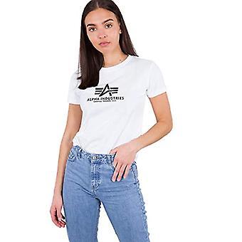 ALPHA INDUSTRIES Nueva camiseta básica de T Wmn, Blanc, mujer grande