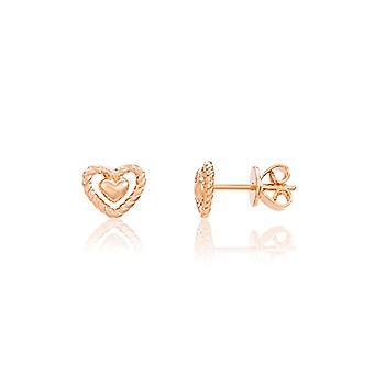 Eye Candy ECJ-ER0099 - Women's heart-shaped earrings, in sterling silver 925 plated rose gold