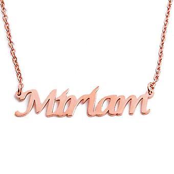 KL Kigu Miriam - Naisten kaulakoru nimi, ruusukulta, nimi, muodikas, lahja tyttöystävälle, äidille, siskolle