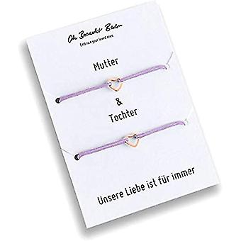 Set of 2 bracelets for mom and daughter, gold plated, 21 colors, nylon, for daughter, for mom, for every look and color: Ref. 7141262345706