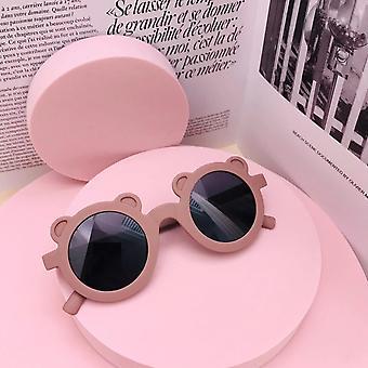 Cartoon Lovely Kids Bear Shape Frame Round Sunglasses