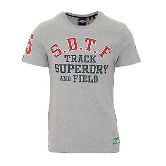 Superdry Track and Field Graphic Tee Grigio