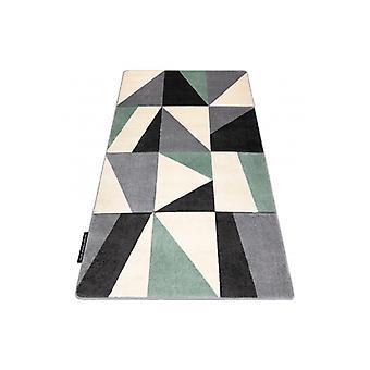 Rug ALTER Fiori Geometric, triangles, squares green