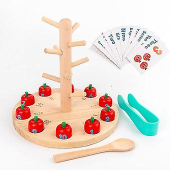 For Kids Montessori Educational Wooden Toys Exercise Hands on Ability Puzzle Baby Calculation |Math Toys WS12054