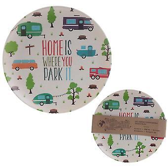 Caravan Design Plate Bambootique Eco Friendly