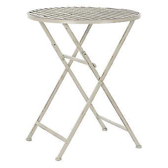 sammenleggbart bord DKD Hjem Dekor Hvitt Metall (60 x 60 x 74 cm)