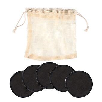 قابلة لإعادة الاستخدام الخيزران قابل للغسل ماكياج مزيل القطن منصات