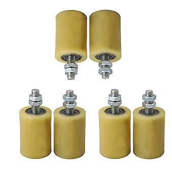 Ruota guida a rulli in acciaio PP da 6 pezzi 5x7cm per accessori porta M12