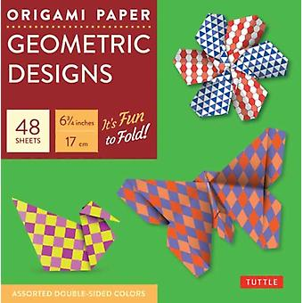 Origami Paper Geometric Prints 48 Sheets 6 34 17 cm by Edited by Tuttle Publishing
